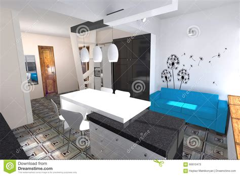 50m2 house design 50m2 house design kitchen design stock illustration image