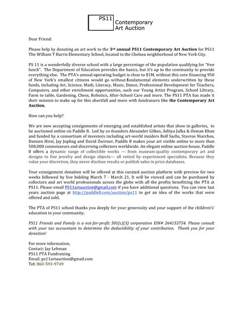 Fundraising Letter Ps auction donation letter docoments ojazlink