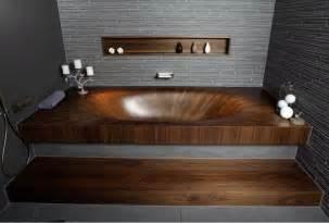 badewanne aus holz freistehende badewanne aus holz l 228 dt zur entspannung ein