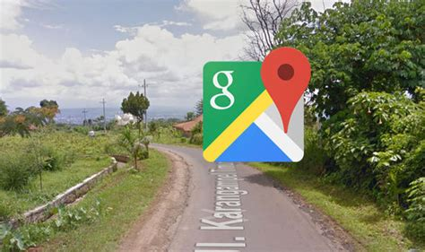 google images indonesia google maps street view captures woman doing this on her