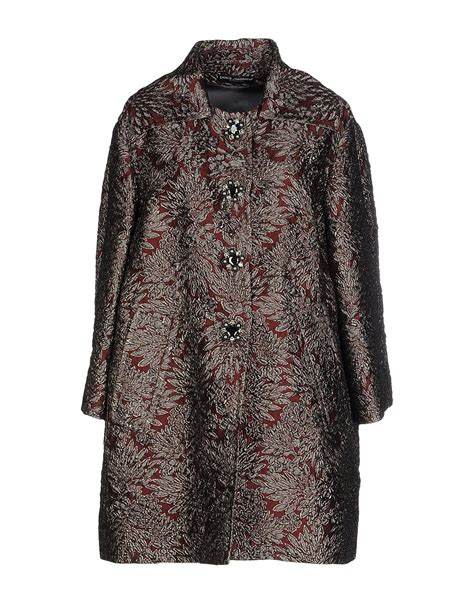Bt3058 Maroon Agnes Jumpsuit dolce gabbana coat in lyst