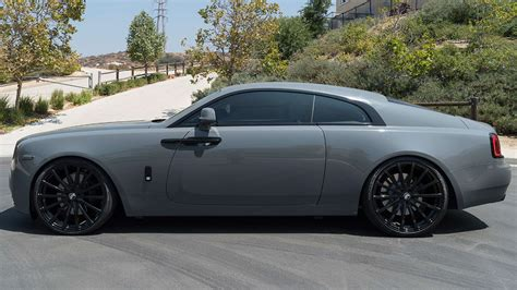 roll royce wraith on rims rolls royce wraith rdb on forgiato wheels photos