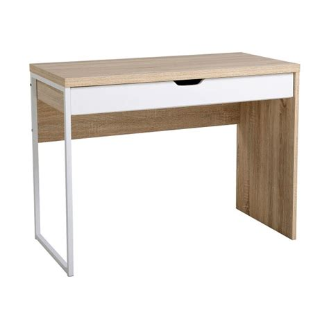 scrivania metallo scrivania da ufficio gaia 100x50x75cm legno e metallo