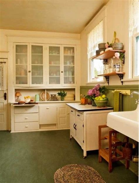 Period Kitchen Cabinets by A Simple Vintage Kitchen Restoration Vintage Kitchen