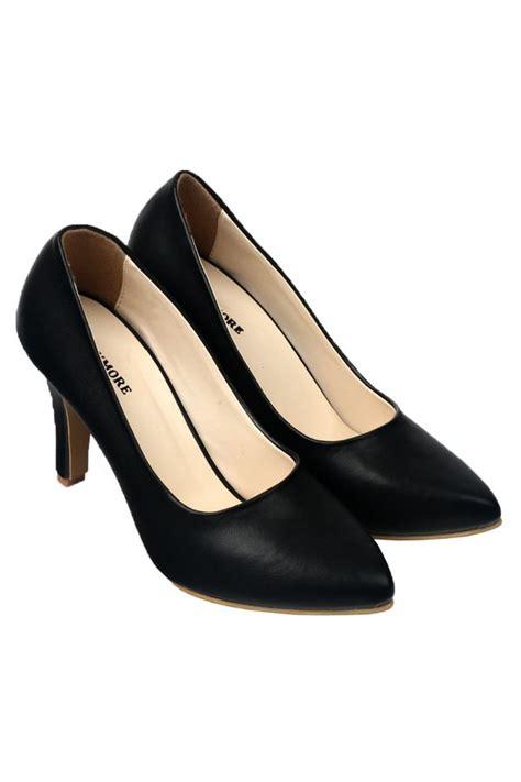 High Heel Black Suede Harga Promo flower sepatu heels wanita black daftar harga terbaru