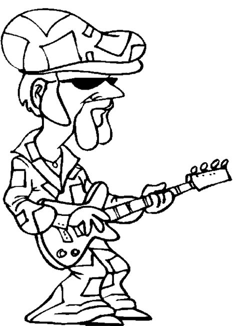 guitar player coloring page guitar player coloring pages disco king guitar player