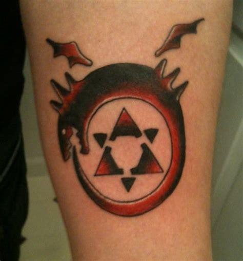 fma tattoo fullmetal alchemist ouroboros by taxxoutbr3akxx on deviantart
