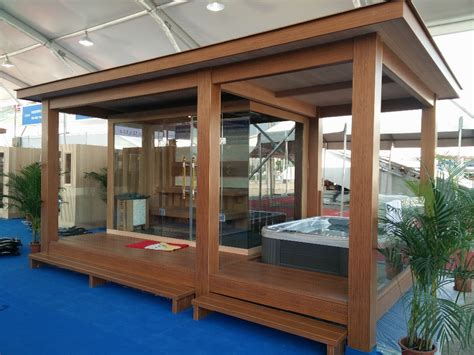 outdoor steam room prefabricated wooden house gazebo with outdoor sauna room