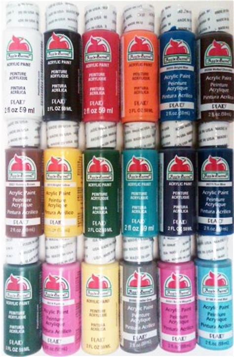 plaid promoabi apple barrel acrylic paint 2 ounce best selling colors i ebay