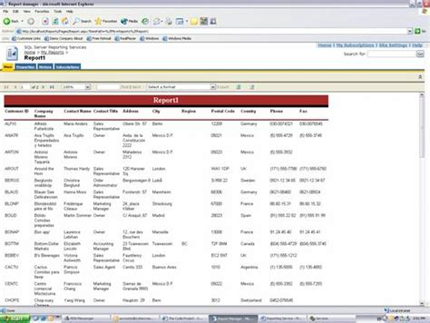 Report Template Viewer Creating Reports With Sql Reporting Service And Visual