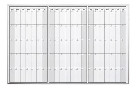 Magnetic Erase Calendar Magnetic Three Month Erase Calendars