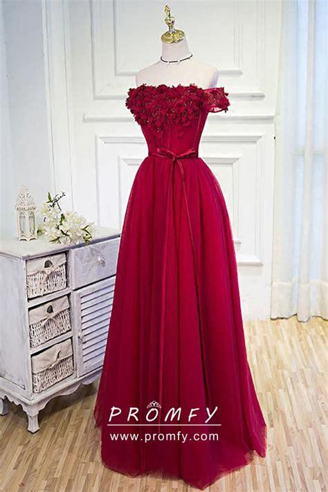 floral bodice   shoulder ruby red cute graduation