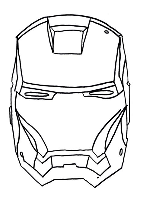 face iron man coloring page for my li l guys pinterest