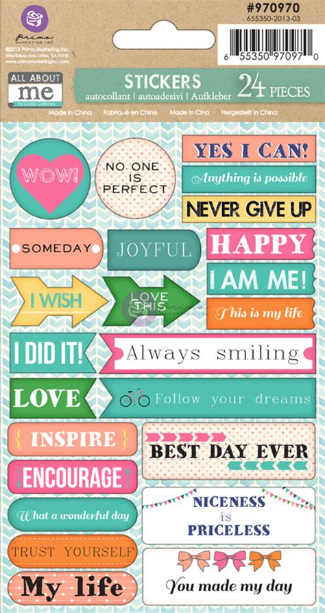 printable word stickers prima leeza gibbons all about me collection