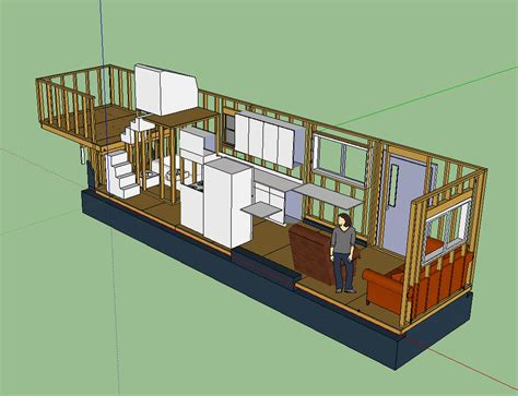 Tiny House Layout Has Master Bedroom Over Fifth Wheel 2 Bedroom Tiny House Plans On Wheels