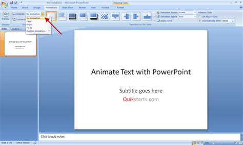 powerpoint tutorial text animation 6