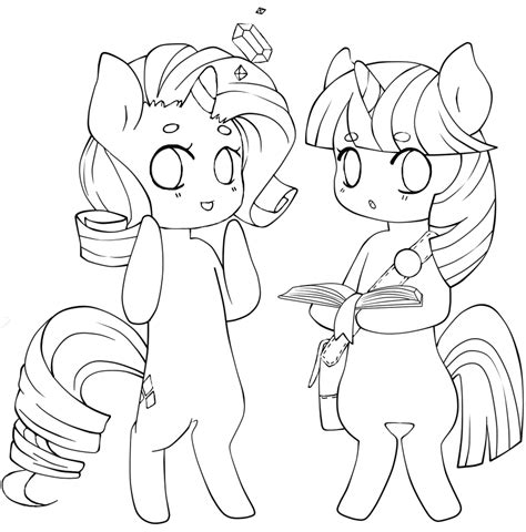 mlp chibi coloring pages mlp anthro lineart