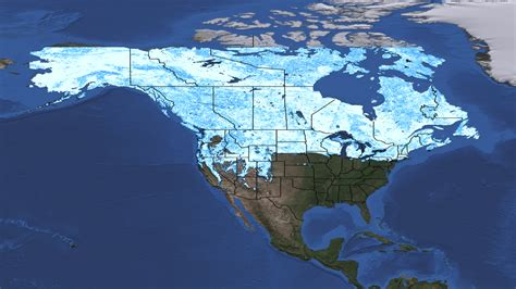 snowfall map canada snow cover map images