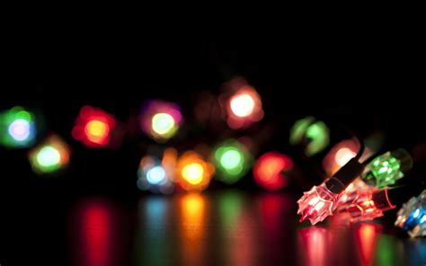 free colorful christmas lights computer desktop wallpaper