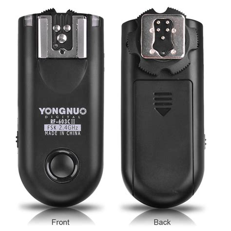 Wireless Flash Trigger Yongnuo Rf 603c Ii For Canon 24ghz 1 yongnuo rf 603c ii triggers for canon yongnuo store