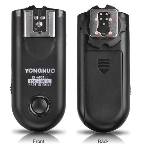 Trigger Yongnuo Rf 603 yongnuo rf 603c ii triggers for canon yongnuo store