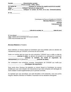 Modele De Lettre Urssaf Remise Gracieuse Exemple Gratuit De Lettre Saisine Commission Recours Amiable Urssaf