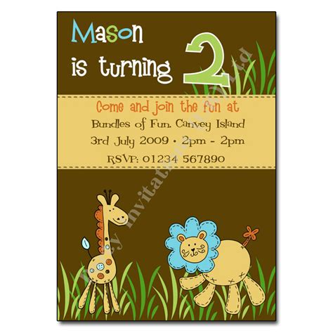 zoo themed birthday invitations zoo children s party invitation