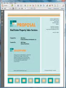 real estate property sales services proposal