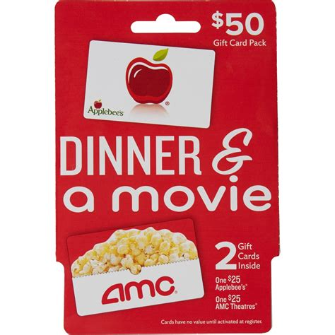 Gift Card Pack - applebee s amc theaters dinner a movie gift card pack entertainment dining