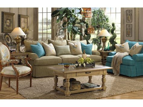 Craftmaster Living Room Furniture by Paula Deen By Craftmaster Living Room Three Cushion Sofa