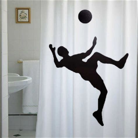 Football Bathroom Accessories Soccer Shower Curtain Football Bathroom From Lauriecurtain On