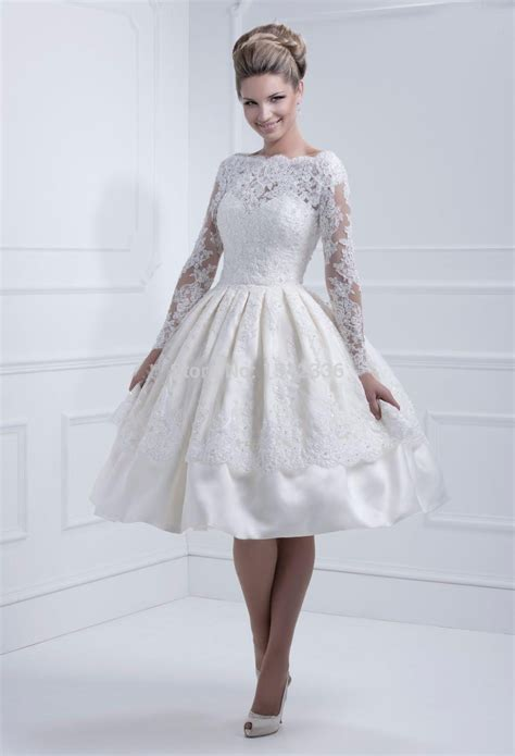 free beaded dress lace sleeves wedding dresses 2016 bateau neckline new