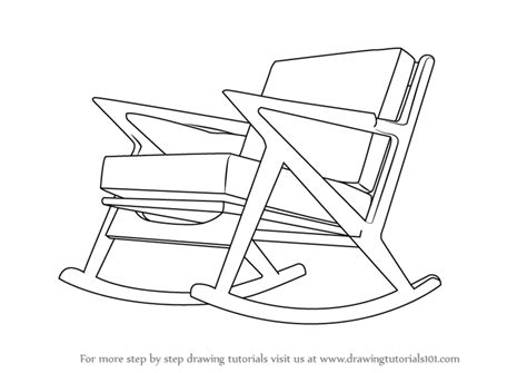 kids rocking chair drawing learn how to draw rocking chair furniture step by step