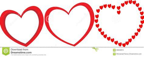 imagenes de 2 corazones unidos tres corazones rojos grandes con diversas formas como