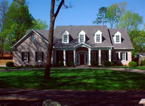 colonial country southern house plan colonial country farmhouse southern house plan 86124