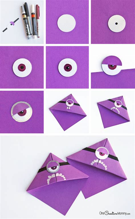 How To Make A Bookmark Out Of Paper - and easy minion bookmark craft for
