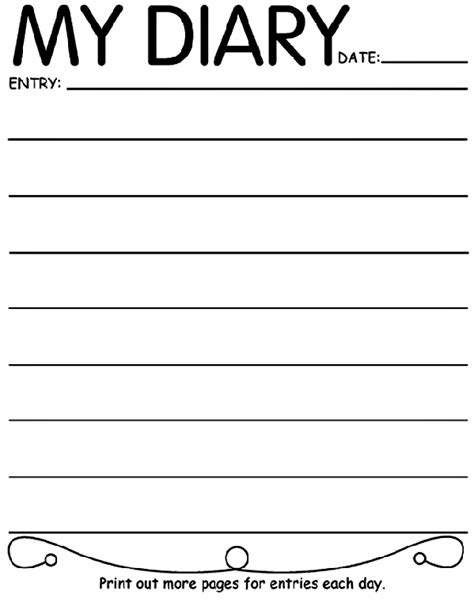 search results for daily diary page free to print