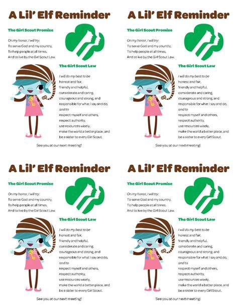 printable brownie elf cute investiture certificate printable just b cause