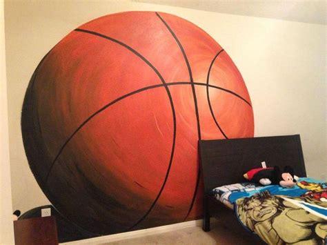 basketball wall mural basketball mural karsten s sports bedroom