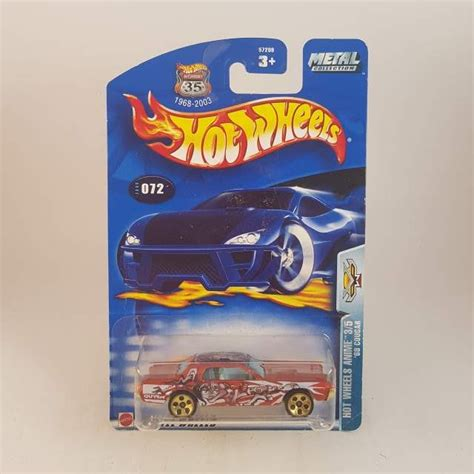 hot wheels anime hotwheels anime 68 cougar 3 5 hotwheels diecast