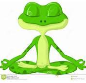 Historieta De La Rana Que Hace Yoga Fotos Archivo  Imagen