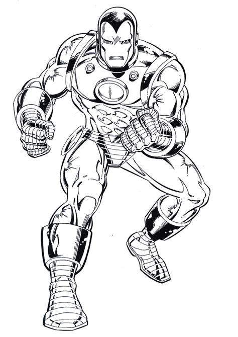 iron man comic coloring pages dibujos de iron man para colorear gratis