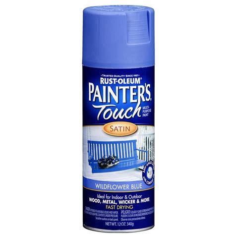 shop rust oleum 12 oz wildflower blue satin spray paint at lowes