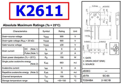 Transistor K2611 k2611 datasheet meta search