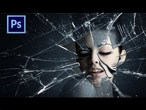 tutorial photoshop glass effect tutorial 2 photoshop cs6 broken glass effects youtube