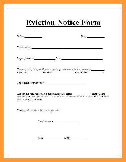 8 9 Eviction Letter Template Slenotary Com Apartment Eviction Notice Template