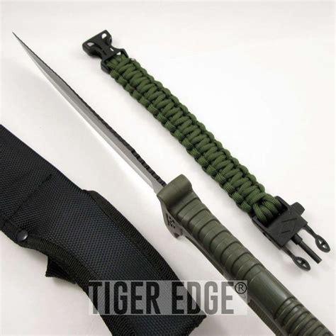 bracelet knife fixed blade survival knife survivor black blade green