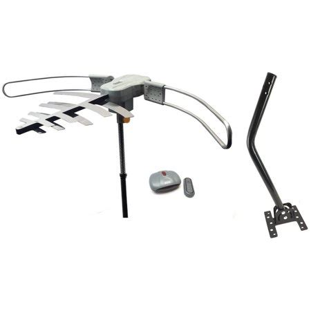 premium hdtv long range digital tv antenna air tv stations includes roof mounting  pole