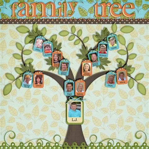 family tree scrapbook templates 13 scrapbooking ideas for wedding anniversary