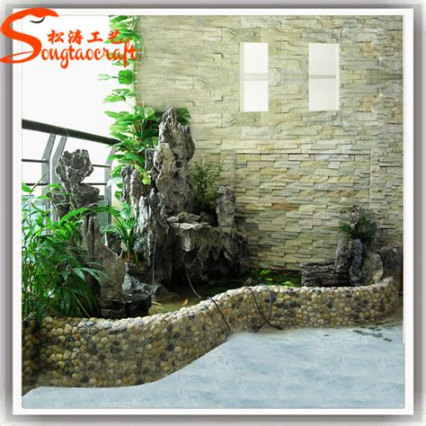 rock garden fountains indoor fiberglass modern rock garden water